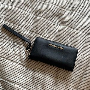 Michael Kors Wallet - Black Leather